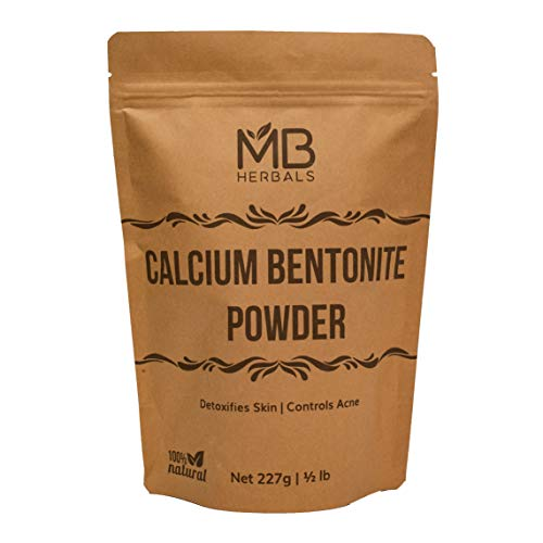 MB Herbals Calcium Bentonite Clay Powder 227g | Half Pound | Anti-ageing and Detoxifying Clay | Suitable for Oily Skin | For External Use Only