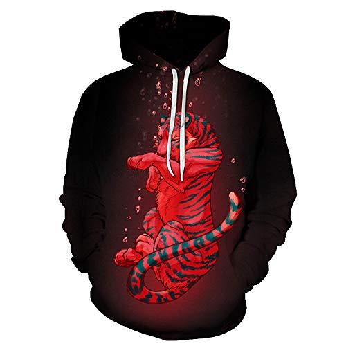 Hoodies Unisex trui 3D verdrinken tijgerprint paar mannen vrouwen lange mouwen sweatshirts uniform trui gebreide jas outdoor vrije tijd club street hip hop