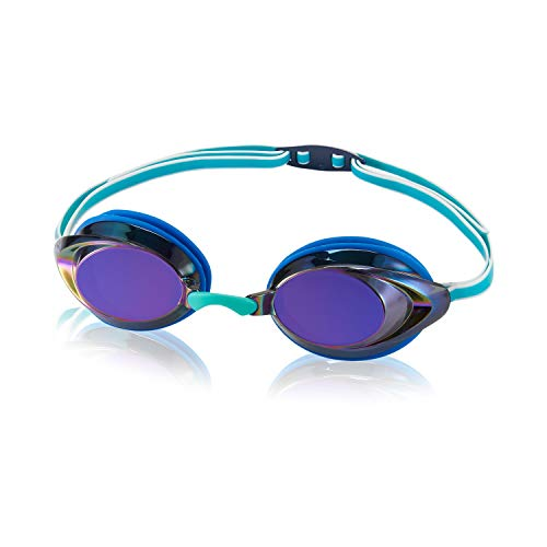 Speedo Unisex-Child Swim Goggles Vanquisher 2.0 Junior Mirrored Blue/Iris