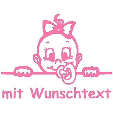 Hoffis Premium Babyaufkleber Mit Name Wunschtext Baby Kinder Autoaufkleber Motiv 1309 16 Cm Farbe Und Schriftart Wählbar Baby