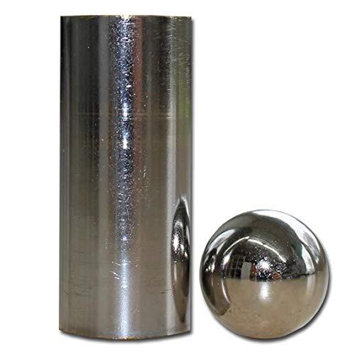 ProTriXX Zaubertrick Steel Ball and Tube, Untersuchbare Stahlkugel schrumpft sichtbar zusammen, Solid Thru Solid, Stahlkugel durch Röhre, Zaubertricks und Zauberartikel