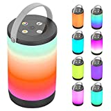 Iriisy RGB Colores Lámpara de Mesita de Noche, 8 Colores Luz Nocturna con...