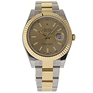 Rolex Datejust II Champagne Dial 18k Two-tone Gold Mens Watch 116333CSO image