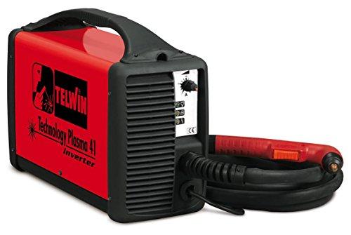 TELWIN Technology Plasma 41 Plasmaschneider mit Kontaktzündung und Inverter-Technik, Set inkl. Plasma-Schlauchpaket und Masseanschlussgarnitur