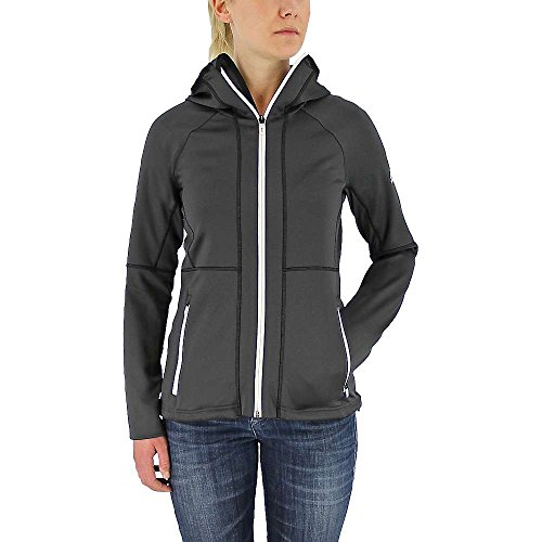 adidas Outdoor - Sudadera de Forro Polar con Capucha para Mujer, Forro Polar con Capucha de una Cara, Mujer, Color Negro utilitario, tamaño Small