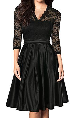 Mmondschein Vintage-Style 3/4 Sleeve Lace Dress