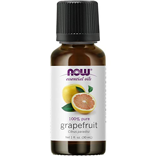 NOW Essential Oils, Grapefruit Oil, Sweet Citrus Aromatherapy Scent, Cold Pressed, 100% Pure, Vegan, Child Resistant Cap, 1-Ounce