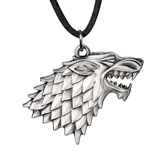Game of Thrones - Halskette - Stark Schattenwolf Logo