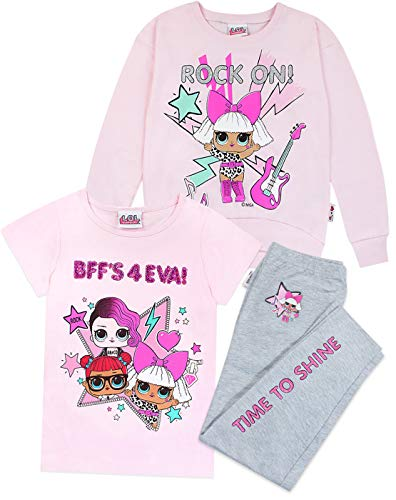 LOL Surprise Dolls Sweater, T-Shirt and Leggings 3 Piece Set (4-5 Years)