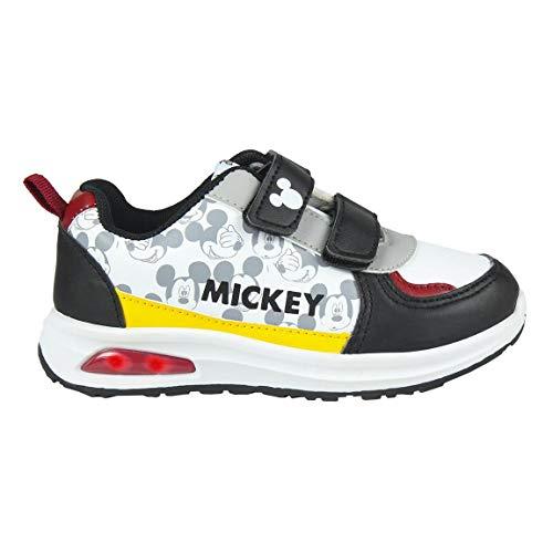 CERDÁ LIFE'S LITTLE MOMENTS Mickey Mouse Kinderschuhe Licht | LED Schuhe Kinder Jungen mit Offizieller Lizenz, Weiß, 26 EU