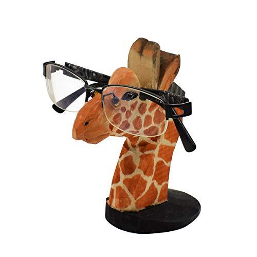 VIPbuy Soporte para Gafas De Sol Madera Ornamento Forma de Animales Tallada a Mano para Niño Mujer Hombres Novedad Regalo Decoración de la Oficina en Casa (Jirafa)