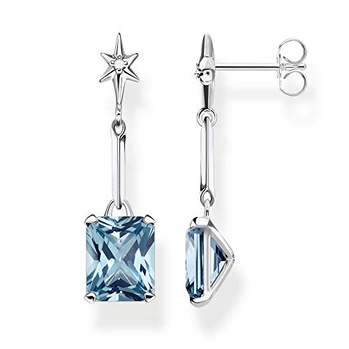 Thomas Sabo Women's Earrings Blue Stone with Star 925 Sterling Silver