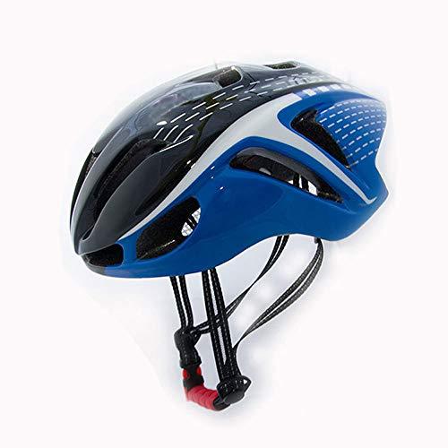 FLYFO Casco da Equitazione Monopezzo Maschio E Femmina,Ciclismo Bici da Bicicletta in Sella A Casco,Casco Adulto Regolabile,per Bici da Strada MTB, Guida BMX,Blu