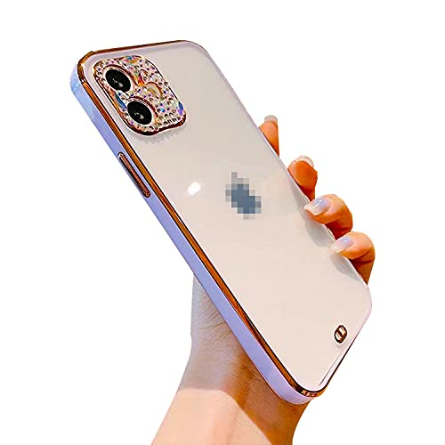 スマホケースカバー・Apple iPhone13 Pro用 ケース 可愛/かわいい エレガント おしゃれ レディース きらきら ラインストーン 背面透明 カバー アップル アイフォン13 頑丈ケース スマホケース おしゃれ 人気 スマホカバー スマートフォ