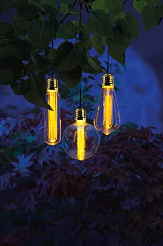 Noma Solar Bulb String of 3 Amber Bulb LED