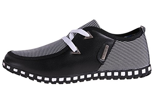 The New Style mens casual shoes, Black, 8 D(M) US