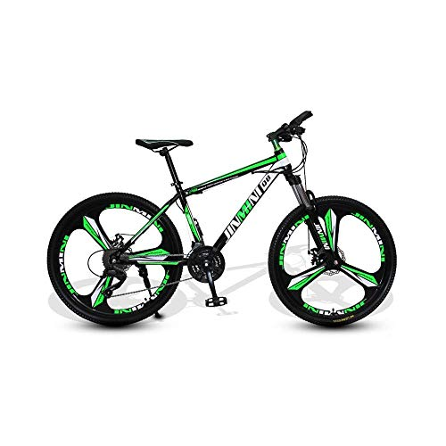 Mountain bike 24 Inches 26 Inch Mountain Bikes, Men's Dual Disc Brake Hardtail Mountain Bike, Bicycle Adjustable Seat, High-Carbon Steel Frame,21 Speed,3 Spoke (Size : XLarge)