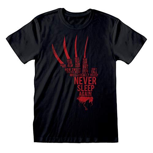 Popgear A Nightmare On ELM Street Never Sleep Again Freddy Krueger Glove Camiseta para Hombre| mercancía Oficial