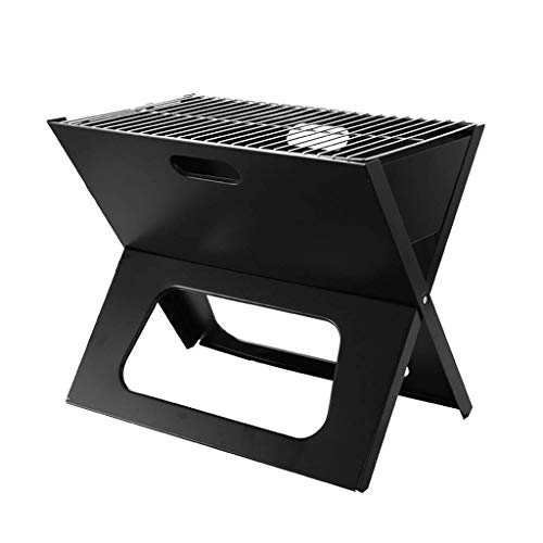 Great Deal! Zjnhl Family Gathering/Small Barbecue Folding Charcoal Barbecue, Desk Stainless Steel BB...