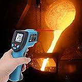 Xzbnwuviei GM550 Indurial Misurazione della Temperatura,L Display Digitale Senza Contatto Inared ermometro di Temperatura IR GM550 Pirometro -50 ~ 550 Gradi