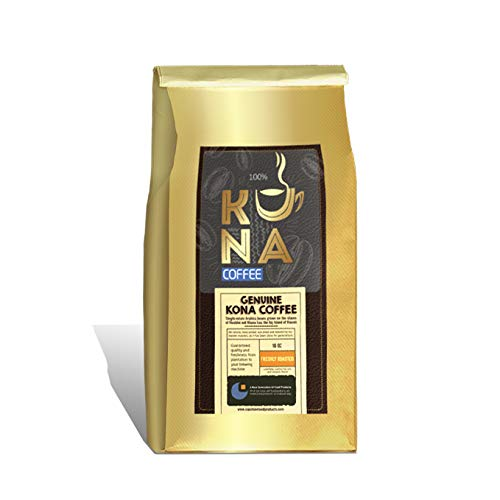 Kona single estate , 100 % Arabica genuine Kona Med Roast whole Beans