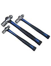 US PRO 1665 3 st kulpinne hammare set 8 16 32 oz TPR handtag, blå