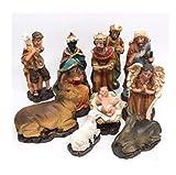 Set de 11 piezas de resina de Belén de Navidad Figuras Tradicionales Jesús María José