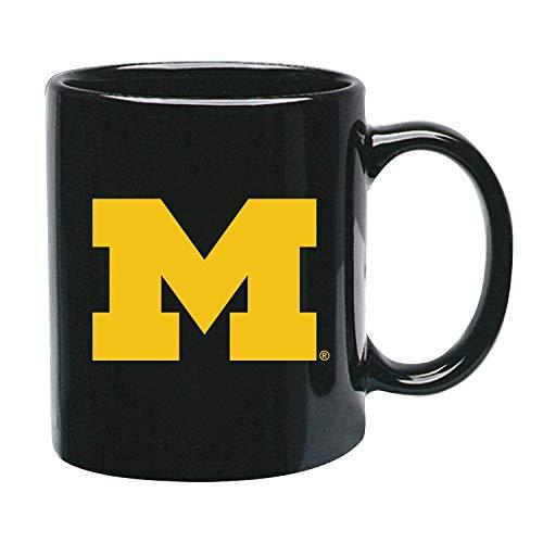 Memory Company Michigan Wolverines - Taza de café (cerámica), Color Negro