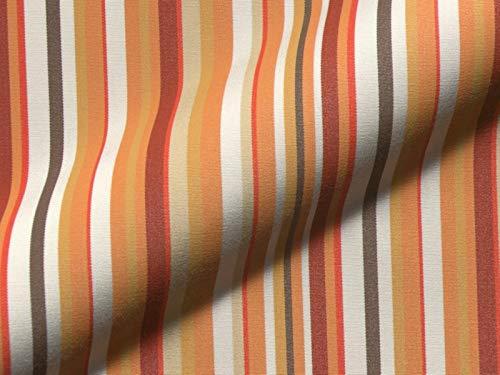 Raumausstatter.de - Tela para Muebles, diseño de Rayas veronas, Color Naranja, como Tela de tapicería Robusta, se Vende por Metros, Estampado, protección contra Manchas de teflón