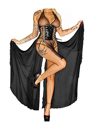 Noir Handmade Damen Langes Kleid 3XL-46