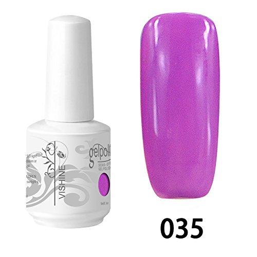 Vishine Vernis à ongles Semi-permanent Gel Polish UV LED Soak Off Manucure Orchid (035)