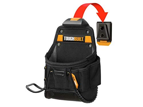 ToughBuilt - Project Pouch Hammer Loop - Heavy-duty Construction, Custom Tape Measure Clip, 6 Pockets and Loops, Extreme-duty hammer loop (Patented ClipTech Hub & Belts) - (TB-CT-24)