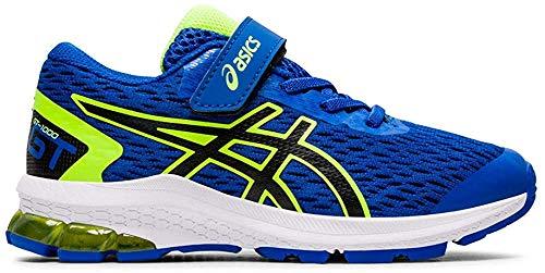 Asics Gt-1000 9 PS, Running Shoe, Tuna Blue/Negro, 33.5 EU