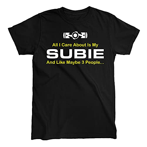 All I Care About is My Subie T-Shirt (Small) Black