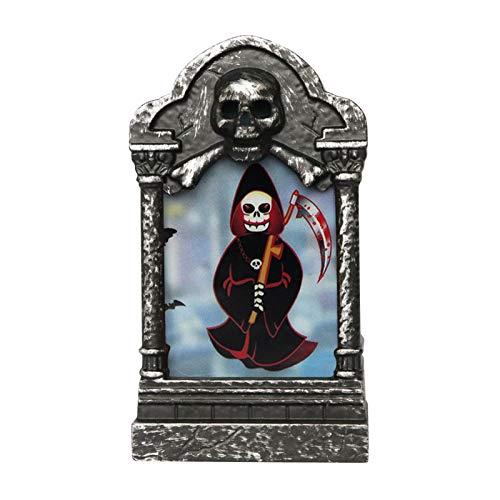 Lámpara de Cementerio LED de Halloween, decoración de lápidas, luz de Bruja, Calabaza, Cruz de Castillo Fantasma Femenino, Accesorios de decoración de atmósfera de Halloween