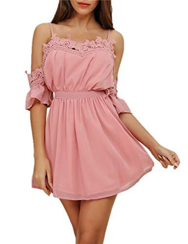Turnglam Damen Jumpsuit Sommerkleid Playsuit Strandkleid TG200 , Kleid, Gr.- 42/ Etikettgröße- XL