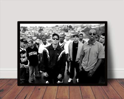 Quadro Decorativo Hip Hop Rap Foto Racionais Mcs 42x29cm