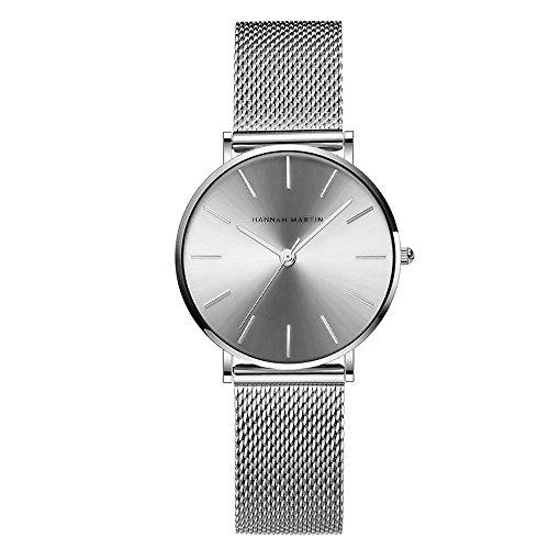 Relojes de Mujer, L'ananas 2020 Acero Inoxidable Pulsera de Malla Ajustable Tamaño Libre Lujoso Negocio Relojes Pulsera Watches