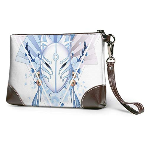 GLGFashion Damen Leder Clutch Bag Geldbörsen Mascara De Zorro Japones Women's Leather Wristlet...