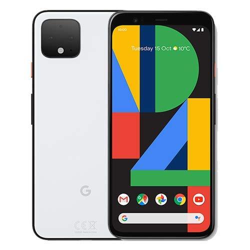 """Google Pixel 4 G020M 128GB 5.7"""" Android (GSM solamente, sin CDMA) Smartphone 4G/LTE desbloqueado de fábrica - Versión internacional (claramente blanco)"""