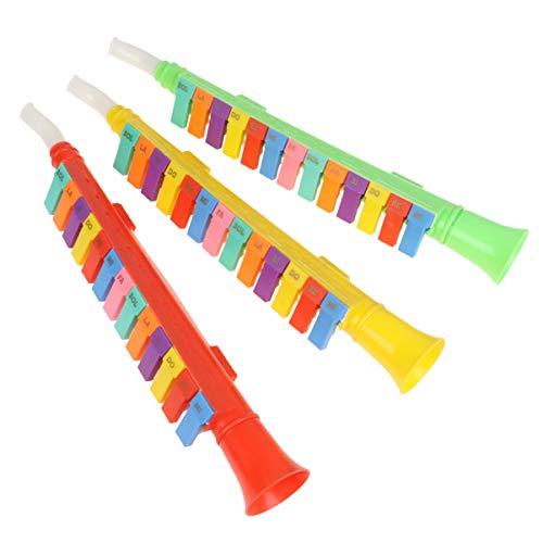 STOBOK 3 Pezzi Giocattolo per Sassofono per Bambini Mini Giocattoli per Clarinetto 13 Tasti Giocattolo per Armonica Giocattolo per L'educazione Precoce (Colore Casuale)