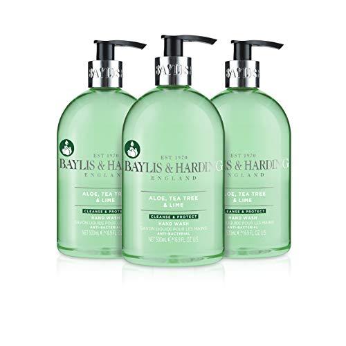 Jabón para manos Baylis & Harding, antibacteriano, de jazmín y flor de manzano, 3 x 500 ml