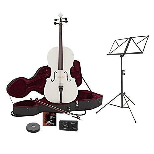 Violonchelo de 4/4 con Estuche + Paquete de Principiante Blanco: Amazon.es: Instrumentos musicales