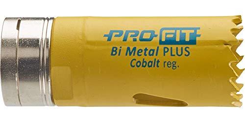 ProFit - HSS Bi-Metall Plus - Lochsäge mit Regelmässiger-Verzahnung 27mm mit integriertem Adapter und Eurolasche