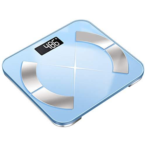 WFDG Digitale personenweegschaal met zeer nauwkeurige sensor en verlicht display, platform van glas D