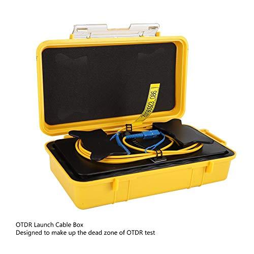 OTDR Verlängerungskabel 1km,LWL OTDR Einführungskabel Box Dead Zone LWL-Ring SC/UPC-SC/UPC SM 1 km, OTDR Faser Tester Verlängerungskabel OTDR Produkteinführungs Kabel Glasfaser Startkabelbox
