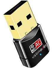 最新版 USB 2.0 WIFI 無線LAN 子機 600Mbps 高速度 デュアルバンド 2.4G/5G 11ac/n/a/g/b 11ac 433+150Mbps 802.11ac技術 Windows10/8/7/XP/Vista/Mac対応,ドライバー不要のダウンロード wsとMac USBドングルに5分間取り付け
