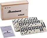 Smilejoy Classical Double 9 Dominos Game Set in Wooden Box with Spinner 55pcs (2-6 Players)