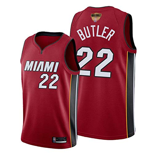 YZQ Jersey para Hombres Y Mujeres- Miami Heat # 22 Jimmy Butler -NBA Retro Transpirable Aspirable Basketball Jersey Camiseta Sin Mangas,S(165~170cm/50~65kg)