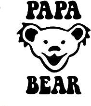 CCI Papa Bear Jerry Bear Grateful Dead Band Decal Vinyl Sticker|Cars Trucks Vans Walls Laptop|Black |5.5 x 4.5 in|CCI1827